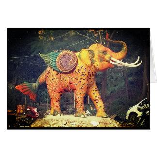 Fantasie-Elefant-Statue im Chiang Mai, Thailand Karte