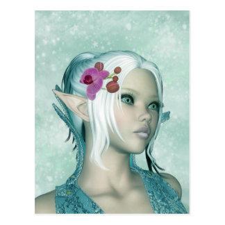 Fantasie-Elf-Kunst-Postkarte - Elven Prinzessin Postkarte
