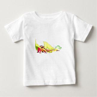 Fantasie-Feuer-Verschnaufpausen-Drache Baby T-shirt