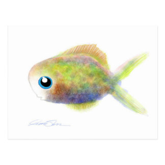 Fantasie-Fische: Der mit blauen Augen Junge Postkarte