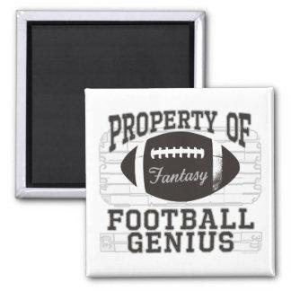 Fantasie-Fußball-Genie Quadratischer Magnet