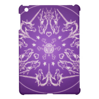 Fantasie Goth Mandala-Einhorn-Drache-Kristallball iPad Mini Hülle