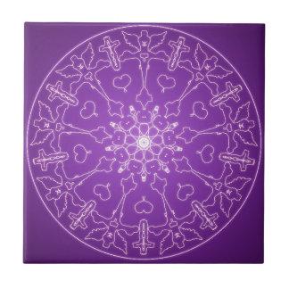 Fantasie Goth Mandala-Engels-Gott-Kristallball Keramikfliese
