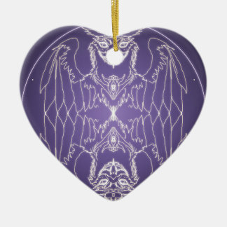 Fantasie Goth Mandala Griffon Kristallball Keramik Ornament