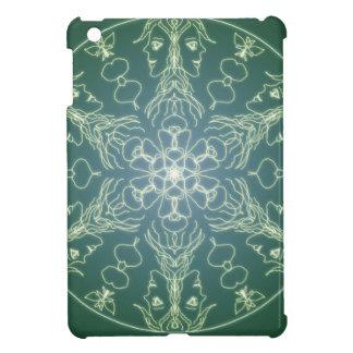 Fantasie Goth Mandala-Grün-Elf-Kristallball iPad Mini Hülle