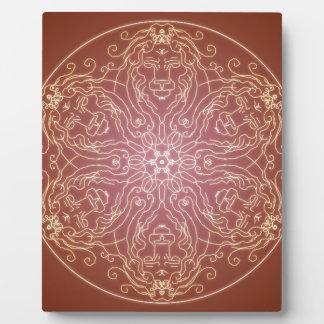 Fantasie Goth Mandala-Löwe-Katzen-Kristallball Fotoplatte