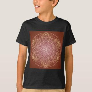 Fantasie Goth Mandala-Löwe-Katzen-Kristallball T-Shirt