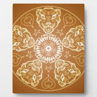Fantasie Goth Mandala-Tiger-Katzen-Kristallball Fotoplatte