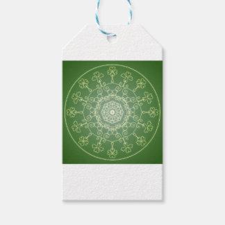 Fantasie Goth Mandala-vierblättriges Kleeblatt Geschenkanhänger