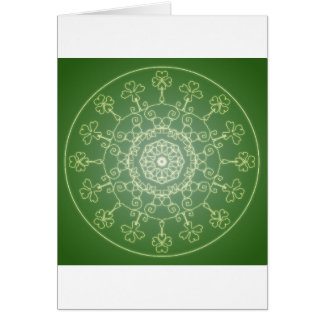 Fantasie Goth Mandala-vierblättriges Kleeblatt Karte