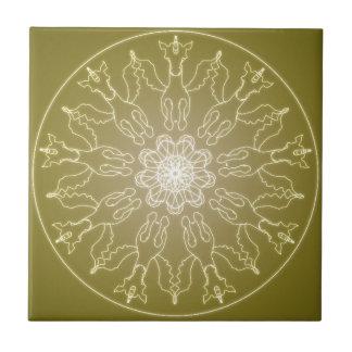Fantasie Goth Mandala Winged Einhorn-Kristallball Fliese