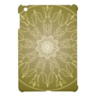 Fantasie Goth Mandala Winged Einhorn-Kristallball iPad Mini Hülle