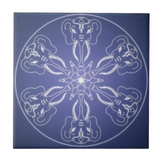 Fantasie Goth Mandalaelefant Kristallball Keramikfliese