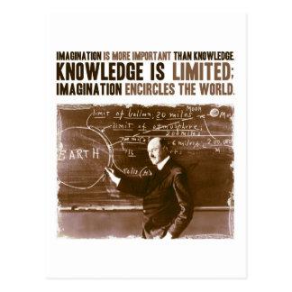 Fantasie ist wichtiger als Wissen Postkarte