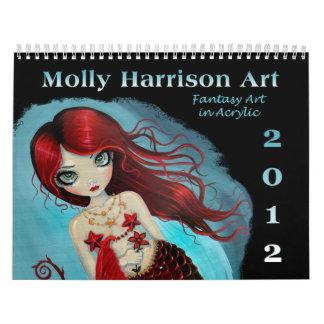 Fantasie-Kunst-Kalender 2012 durch Molly Harrison Wandkalender