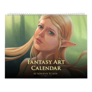 Fantasie-Kunst-Kalender 2018 durch Adrienn Ecsedi Kalender