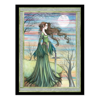Fantasie-Kunst-Postkarte Morgan le Fay