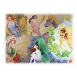 Fantasie-Kunst-Postkarte Postkarte