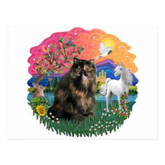 Fantasie-Land (FF) - Perser Tortie Katze 18 Postkarte
