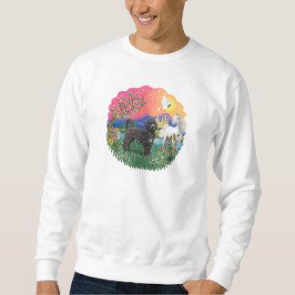 Fantasie-Land - schwarzes Portie (PWD) stehend Sweatshirt