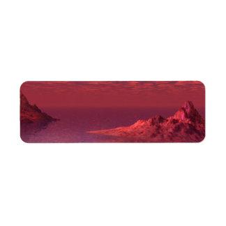 Fantasie-Landschaft - Berge an der Dämmerung