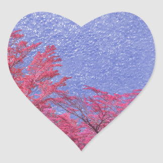 Fantasie-Landschaftsthema-Plakat Herz-Aufkleber