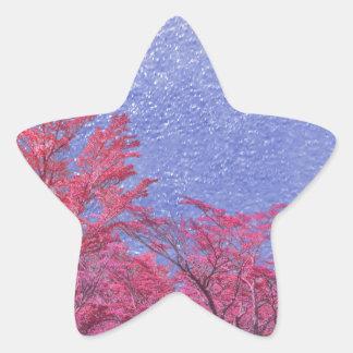 Fantasie-Landschaftsthema-Plakat Stern-Aufkleber