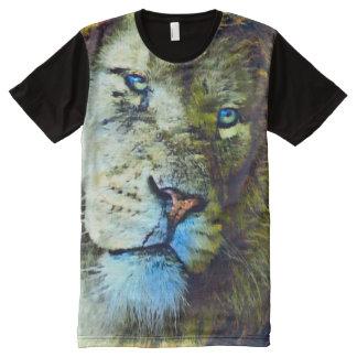 Fantasie-Löwe-Gesichts-Tier-Acryl-Kunst T-Shirt Mit Komplett Bedruckbarer Vorderseite