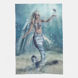 Fantasie-Meerjungfrau-Geschirrtuch Küchentuch