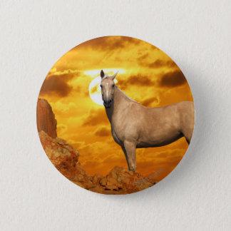 Fantasie-Pferde: Berg Runder Button 5,1 Cm