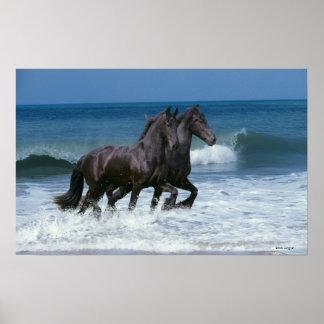 Fantasie-Pferde: Friesische Rinder u. Meer Plakatdrucke