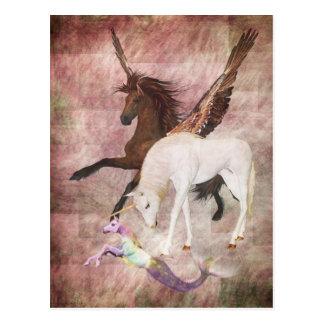 Fantasie-Pferde Postkarte