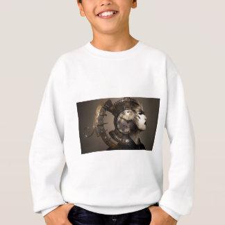 Fantasie-Porträt-surreale Frauen-Helm-Uhr Sweatshirt