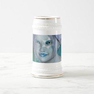Fantasie-Schnee-Fee Bierglas