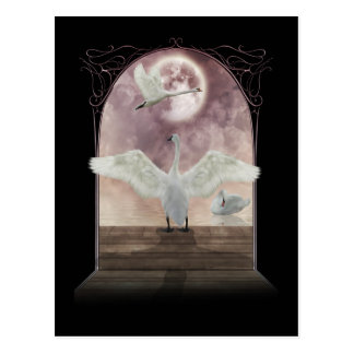 Fantasie-Schwan-Postkarten-Kunst Postkarte