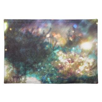 Fantasie-sternenklarer Wald 5 Tischset