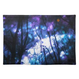 Fantasie-sternenklarer Wald 7 Tischset