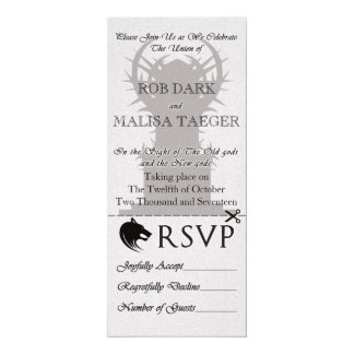 Fantasie-Thron-Hochzeit laden ein 10,2 X 23,5 Cm Einladungskarte