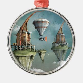 Fantasiehimmelwohnsitz Rundes Silberfarbenes Ornament