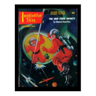 Fantasiereiche Geschichten - Kunst 1957.11_Pulp Postkarten