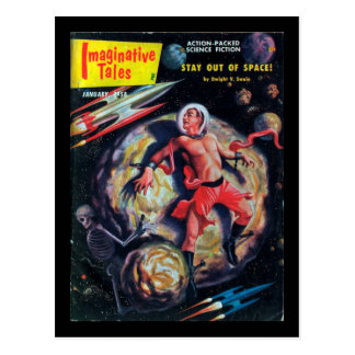 Fantasiereiche Geschichten - Kunst 1958.01_Pulp Postkarte