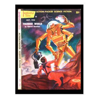 Fantasiereiche Kunst der Geschichten-1956_Pulp Postkarten