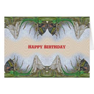 Fantasmagorical Zikaden-Geburtstag Karte