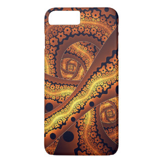 Fantastische abstrakte Fraktal-Kunst Browns iPhone 8 Plus/7 Plus Hülle