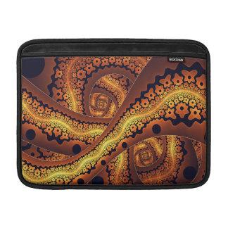 Fantastische abstrakte Fraktal-Kunst Browns MacBook Sleeve