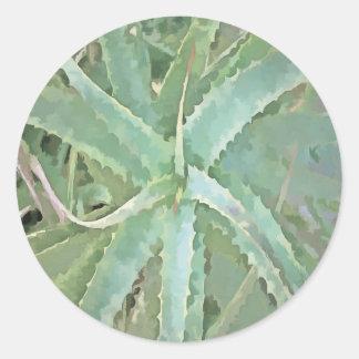 Fantastische Aloe Vera Runder Aufkleber