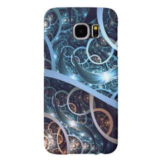 Fantastische blaue Fraktal-Kunst