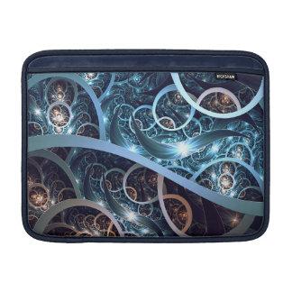 Fantastische blaue Fraktal-Kunst MacBook Sleeve
