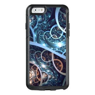 Fantastische blaue Fraktal-Kunst OtterBox iPhone 6/6s Hülle