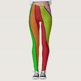Fantastische bunte gestreiftes Muster-Gamaschen Leggings